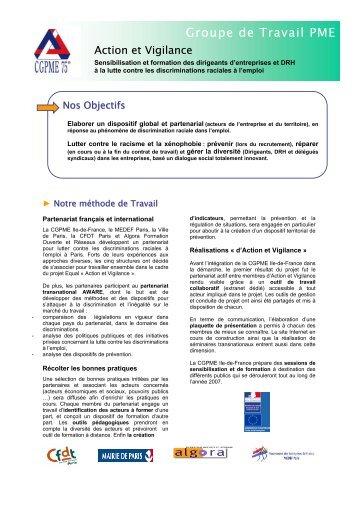 Groupe de Travail PME - CGPME Paris Ile de France