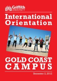 International Orientation GOLD COAST CAMPUS - Griffith University