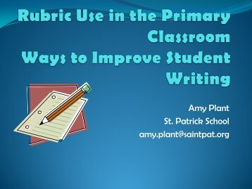 Rubric Use in the Primary Classroom