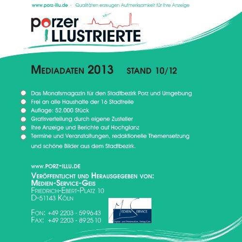 Mediadaten 2013 stand 10/12 - Porz-Illu.de