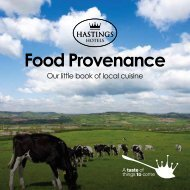 Please click here to download our Food ... - Hastings Hotels