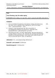 Ministerium für Bildung und Kultur Schriftliche Abiturprüfung 2012 ...