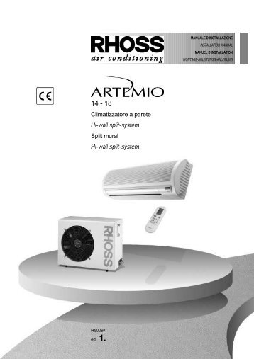 H50097-v01 Manuale Installazione Artemio 14-18 Maxi - Rhoss