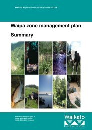 Waipa zone manag plan Waipa zone management management
