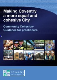 Community Cohesion Guidance - Coventry Partnership