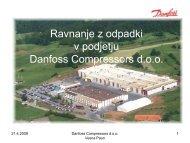 Ravnanje z odpadki v podjetju Danfoss Compressors d.o.o. - GZDBK