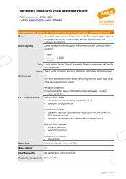 Factsheets indicatoren Vitaal Bedreigde Patiënt - VMS