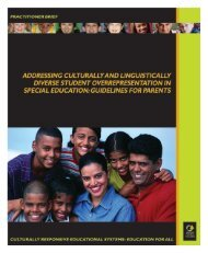 Addressing Culturally and Linguistically Diverse Students - NCCRESt