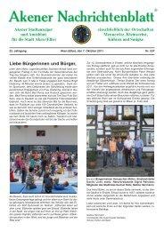 Ausgabe 537 vom 07.10.2011 - Stadt Aken (Elbe)