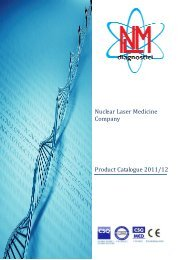 Nuclear Laser Medicine Company Product Catalogue 2011/12