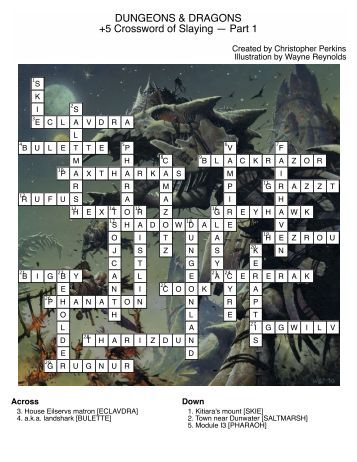 DUNGEONS & DRAGONS +5 Crossword of Slaying — Part 1