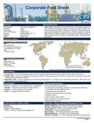 Corporate Fact Sheet - CB&I