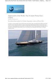 Superyacht of the Week: The 56 metre Perini Navi Fidelis