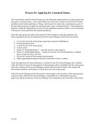 Process for Applying for Canonical Status - Secular Carmelites of ...