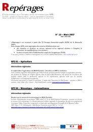Repérages n° 13 - Carif Oref Midi-Pyrénée
