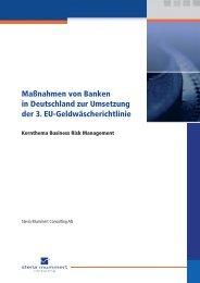 Maßnahmen von Banken in Deutschland zur Umsetzung der 3. EU ...
