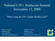 National LTCi Producers Summit November 15, 2009 - Long Term ...