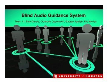 Blind Audio Guidance System