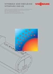 VITOMAX 200-HW/LS/HS VITOPLEX 100-LS - Viessmann