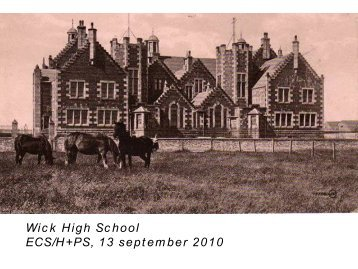 Wick High School Consultation - The Highland Council