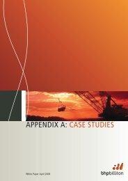 APPENDIX A: CASE STUDIES - National Competition Council