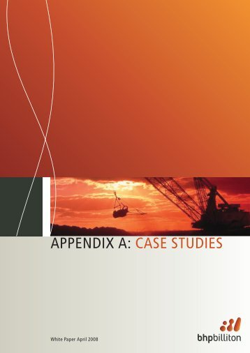 APPENDIX A: CASE STUDIES - National Competition Council