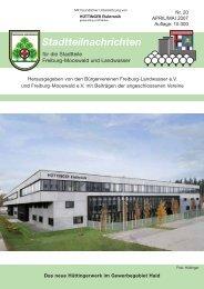 Stadtteilnachrichten Heft 20 - Bürgerverein Freiburg Mooswald eV