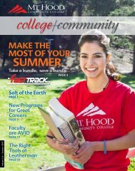 College + Community, Summer 2012 - Mt. Hood Community College