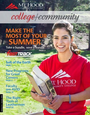 College + Community, Summer 2012 - Mt. Hood Community College