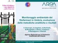 Monitoraggio ambientale dei fitofarmaci in Umbria ... - ARPA Umbria
