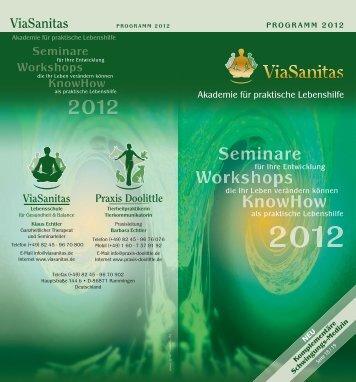 das gesamte Programm 2012 als PDF - ViaSanitas