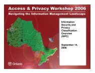 Information Security and Privacy Classification Overview - Verney ...