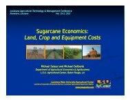 Sugarcane Economics - Louisiana Agricultural Consultants ...