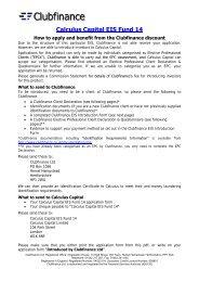 Calculus Capital EIS Fund 14 - Clubfinance