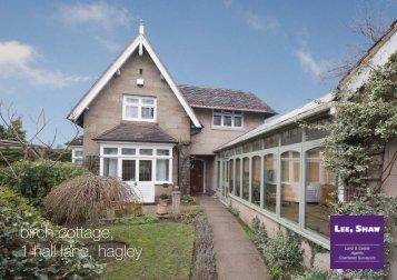 birch cottage, 1 hall lane, hagley - Lee Shaw Partnership