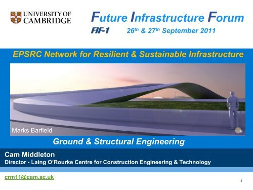 FIF1 Introduction - Future Infrastructure Forum