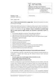 Elezioni amministrative del 6 e 7 giugno 2009 - Sistema delle ...