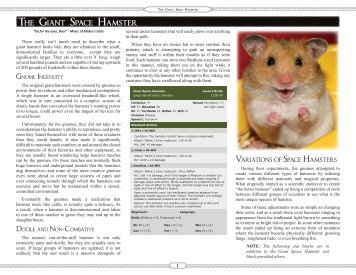 The Giant Space Hamster (PDF, 1.2Mb)
