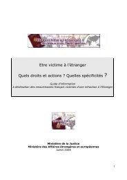 Guide - Ministère de la Justice