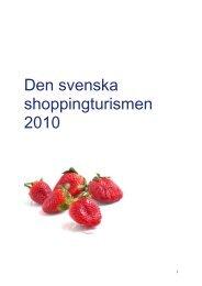 Shoppingturismen 2010 - Svensk Handel