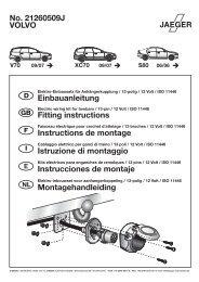 VOLVO No. 21260509J Einbauanleitung Fitting instructions ...