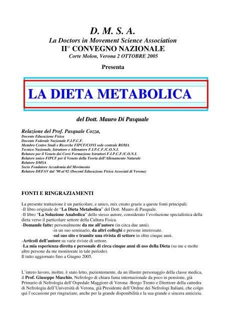 programma di dieta di allenamento per i palati più esigenti