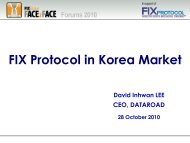 FIX Protocol in Korea Market - Plus Concepts