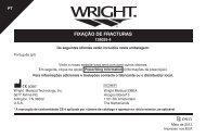FixaÇÃo De FracturaS - Wright Medical Technology, Inc.