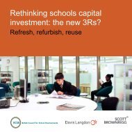 Rethinking schools capital investment: the new 3Rs?