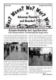 April 2006 - Wann? Wo? Wer? Wie? in Schnarup-Thumby