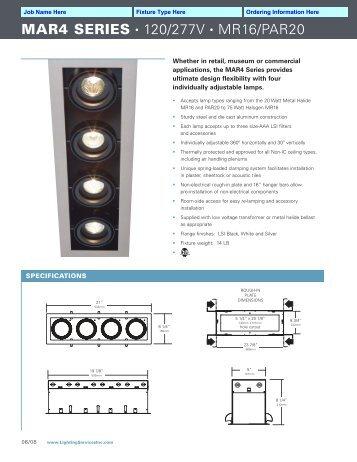 MAR4 SERIES • 120/277V • MR16/PAR20 - Lighting Services Inc