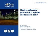 Hydrokrakování - proces pro výrobu moderních paliv - Česká ...