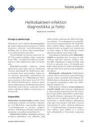 Helikobakteeri-infektion diagnostiikka ja hoito - Terveyskirjasto
