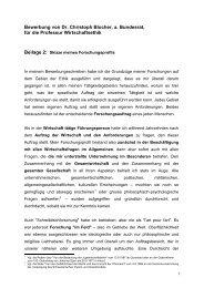 Bewerbung von Dr - Christoph Blocher